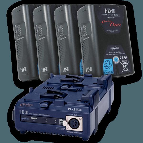 Camera Power IDX Duo 150 VLock Battery Kit