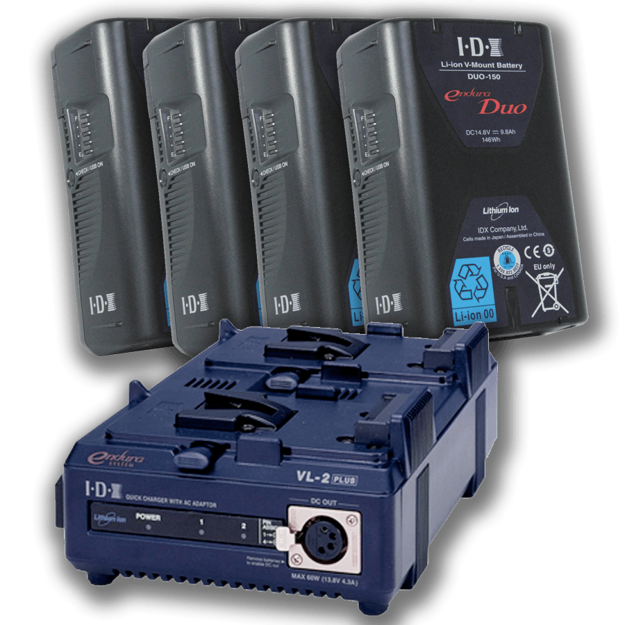 Camera Power IDX Duo 150 VLock Battery Kit