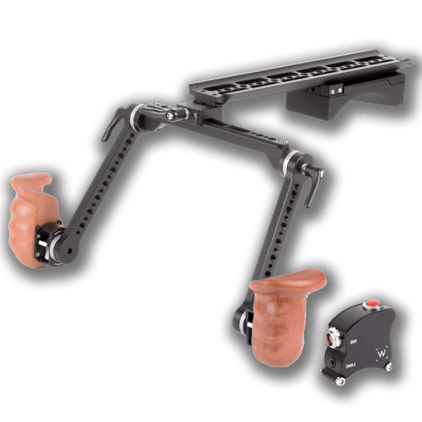 Camera Support Wooden Shoulder Rig V2 Premium Trigger