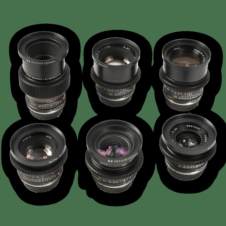 Cine Lens Leica R Summilux Prime Lens Set